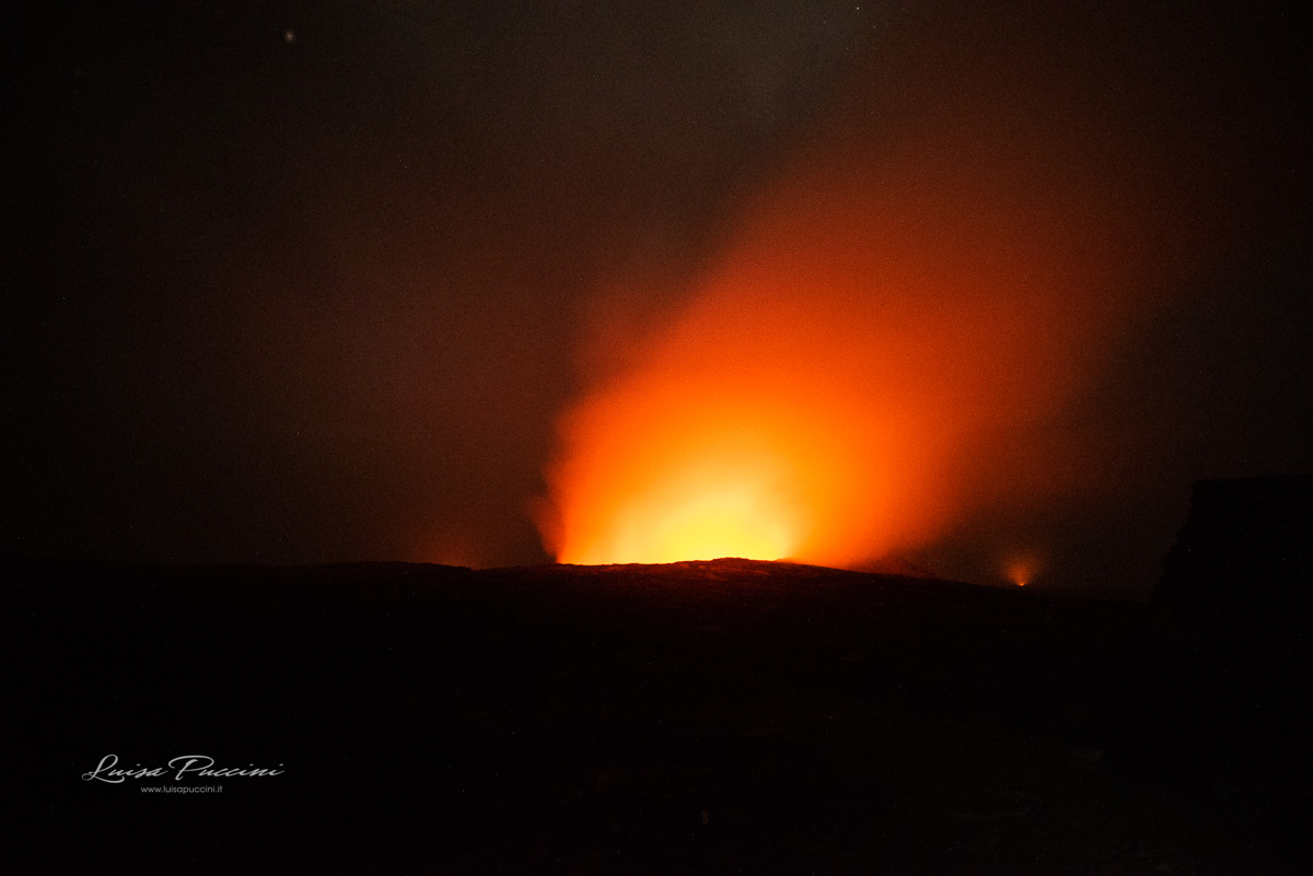 Danakil, Erta Ale, Volcano, fire, night, trekking, Dancalia, Ethiopia, Africa, adventure, wanderlust, Luisa Puccini